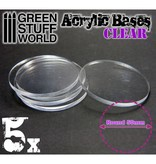 Green Stuff World GSW Acrylic Bases - Round 50 mm CLEAR
