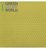 Green Stuff World GSW ABS Plasticard - CURVED-Y Textured Sheet - A4