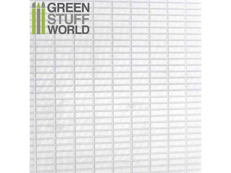 Green Stuff World GSW ABS Plasticard - LARGE RECTANGLES Textured Sheet - A4