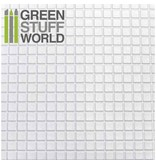 Green Stuff World GSW ABS Plasticard - LARGE SQUARES Textured Sheet - A4