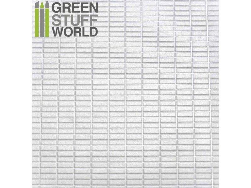 Green Stuff World GSW ABS Plasticard - MEDIUM RECTANGLES Textured Sheet - A4