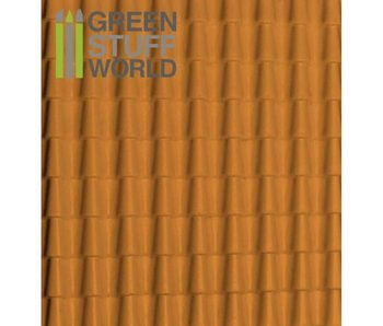 GSW ABS Plasticard - ROOF TILES Textured Sheet - A4