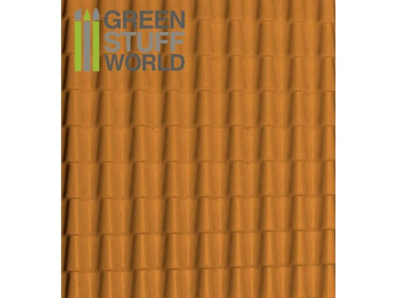 Green Stuff World GSW ABS Plasticard - ROOF TILES Textured Sheet - A4