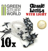 Green Stuff World GSW 10x Classic WALL Lamps with LED Lights