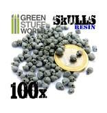 Green Stuff World GSW 100x Resin Skulls