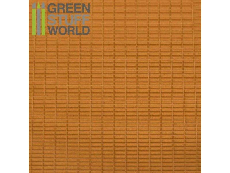 Green Stuff World GSW ABS Plasticard - SMALL RECTANGLES Textured Sheet - A4