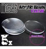 Green Stuff World GSW Acrylic Bases - Round 55 mm CLEAR
