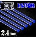 Green Stuff World GSW Acrylic Rods - Round 2.4 mm Fluor BLUE