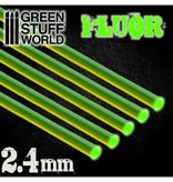 Green Stuff World GSW Acrylic Rods - Round 2.4 mm Fluor GREEN
