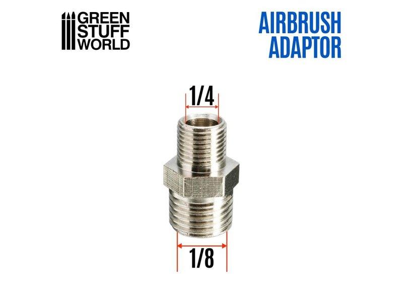 Green Stuff World GSW Airbrush Thread Adapter 1/4inch to 1/8inch