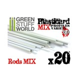 Green Stuff World GSW ABS Plasticard - Profile - 20x RODs Variety Pack