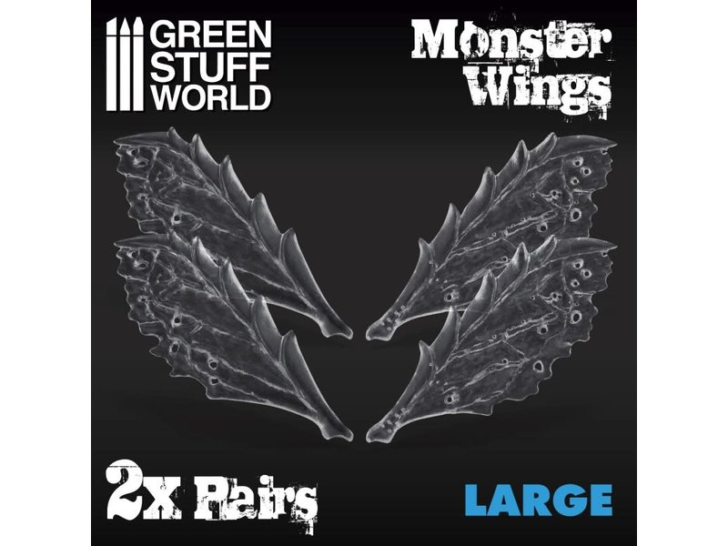 Green Stuff World GSW 2x Resin Monster Wings - Large