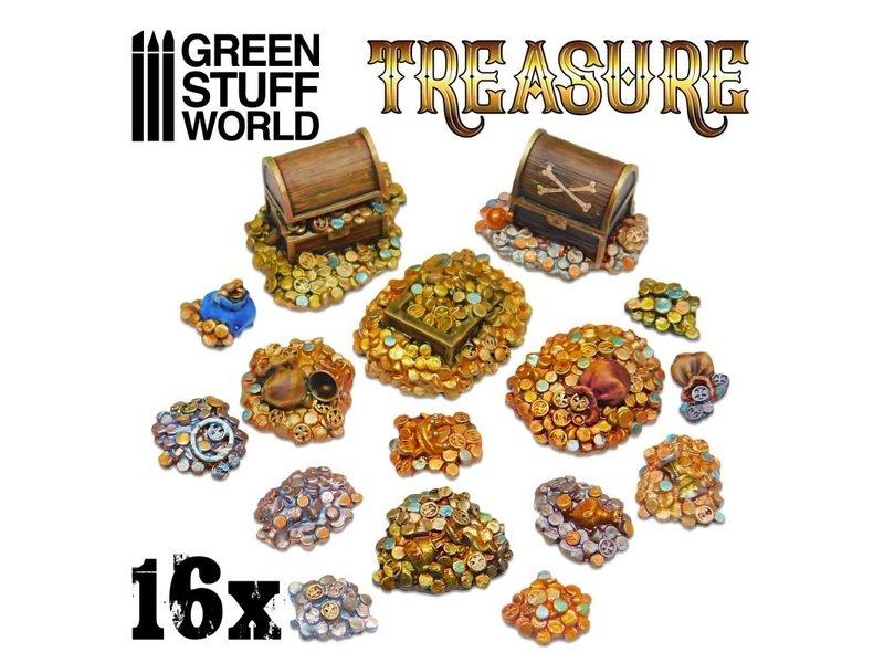 Green Stuff World GSW 16x Resin Treasure Pieces