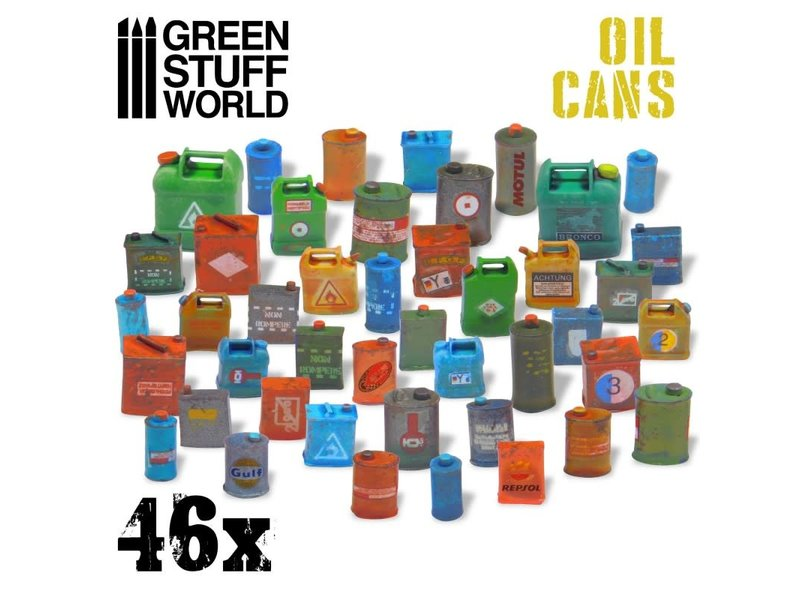 Green Stuff World GSW 46x Resin Oil Cans