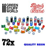 Green Stuff World GSW 72x Resin Drink Cans
