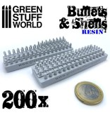 Green Stuff World GSW 200x Resin Bullets and Shells