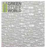 Green Stuff World GSW ABS Plasticard - SMOOTH ROCK WALL Textured Sheet - A4