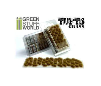GSW Grass TUFTS - 6mm self-adhesive - DRY BROWN
