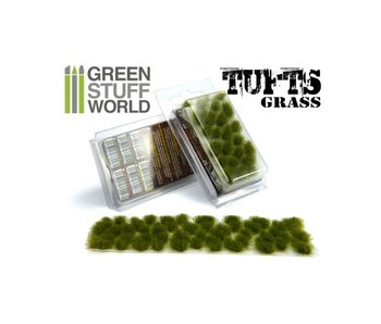 GSW Grass TUFTS - 6mm self-adhesive - DRY GREEN