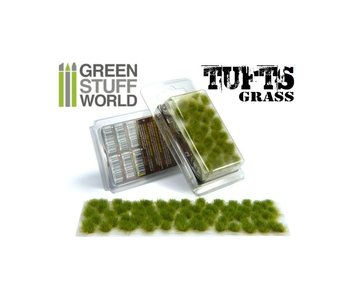 GSW Grass TUFTS - 6mm self-adhesive - REALISTIC GREEN