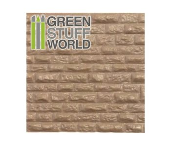 GSW ABS Plasticard - ROUGH ROCK WALL Textured Sheet - A4