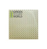 Green Stuff World GSW ABS Plasticard - Thread  DOUBLE DIAMOND Textured Sheet - A4