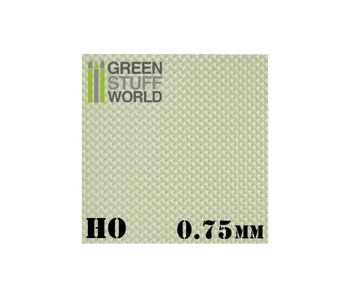 GSW ABS Plasticard - Thread DIAMOND HO 0.75mm Textured Sheet