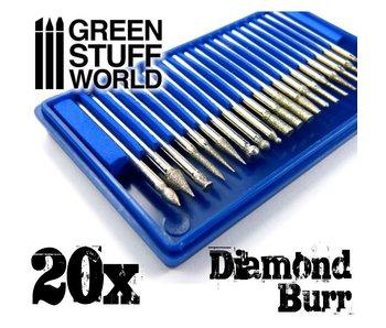 GSW Diamond Burr Set with 20 tips
