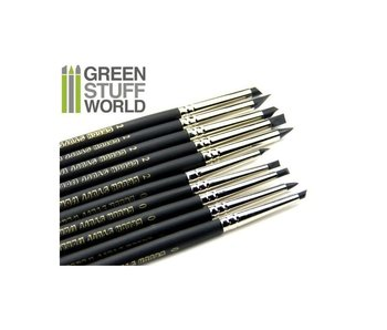 GSW Colour Shapers Brushes COMBO 0 and 2 - BLACK FIRM