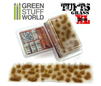 GSW Grass TUFTS XL - 12mm self-adhesive - DRY BROWN
