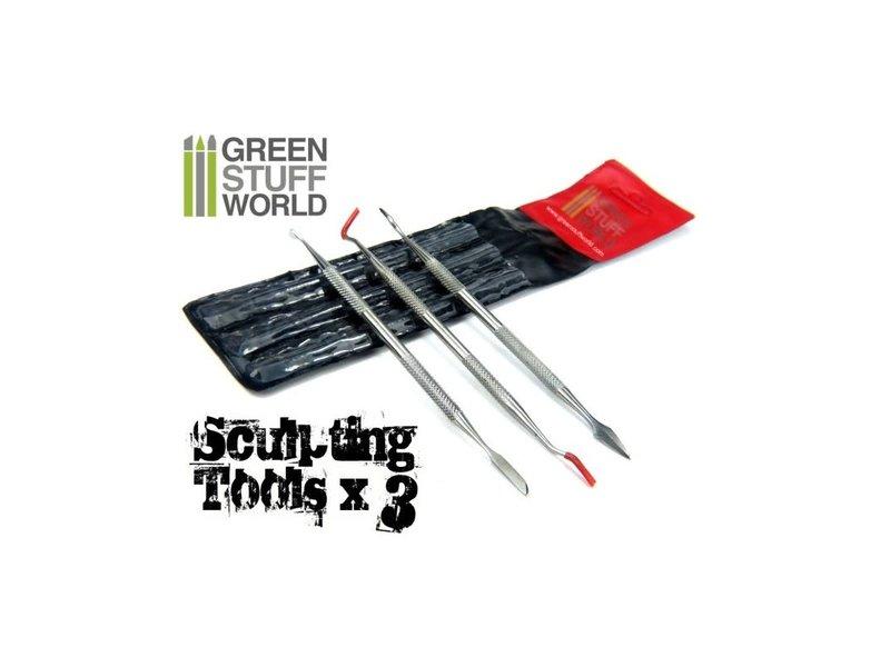 Green Stuff World GSW 3x Sculpting Tools