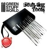 Green Stuff World GSW 10x Professional Sculpting Tools - Carvers