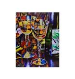Abstract Wine Diamond Art Kit Advanced
