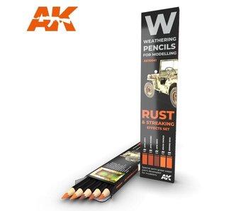 AK Interactive Watercolor Pencil Set Rust And Streaking