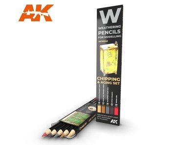 AK Interactive Watercolor Pencil Set Chipping