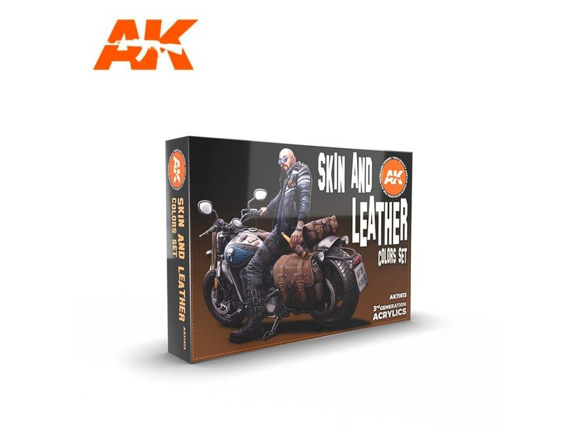 AK Interactive AK Interactive 3G Skin and Leather Colors Set