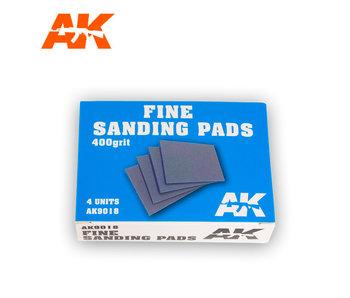 AK Interactive Fine Sanding Pads 400 grit. 4 units