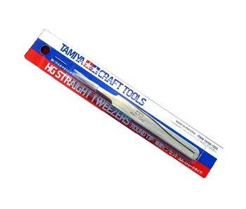 Tamiya HG Straight tweezers Round Tip (74109)