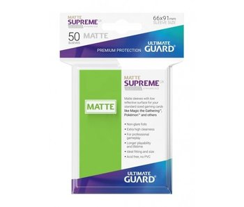 Ultimate Guard Sleeves Supreme Ux Matte Light Green 50Ct