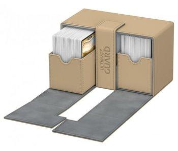 Ultimate Guard Twin Flip N Tray Deck Case Xenoskin Sand 160+