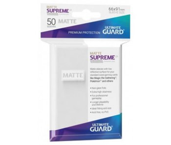 Ultimate Guard Sleeves Supreme Ux Matte White 50Ct