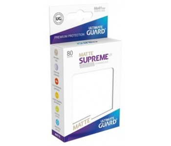 Ultimate Guard Sleeves Supreme Ux Matte White 80Ct