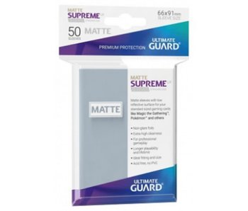 Ultimate Guard Sleeves Supreme Ux Matte Clear 50Ct