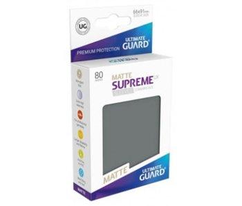 Ultimate Guard Sleeves Supreme Ux Matte Dark Grey 80Ct