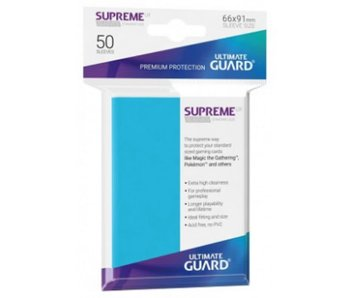 Ultimate Guard Sleeves Supreme Ux Light Blue 50Ct