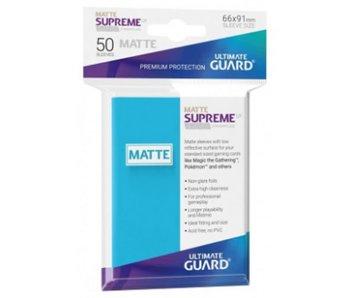 Ultimate Guard Sleeves Supreme Ux Matte Light Blue 50Ct