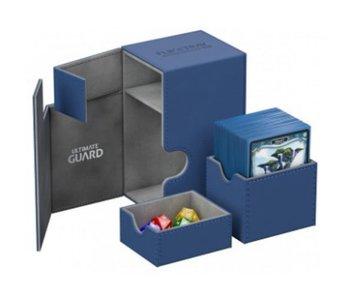 Ultimate Guard Flip N Tray Deck Case Xenoskin Blue 80+