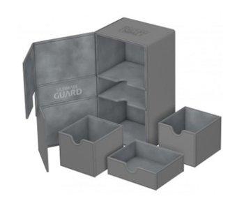 Ultimate Guard Twin Flip N Tray Deck Case Xenoskin Grey 200+