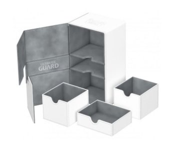 Ultimate Guard Twin Flip N Tray Deck Case Xenoskin White 200+