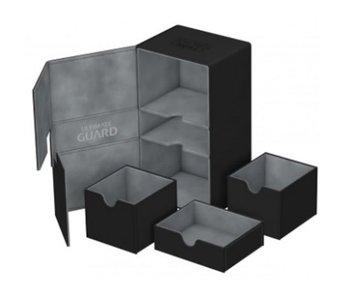Ultimate Guard Twin Flip N Tray Deck Case Xenoskin Black 200+